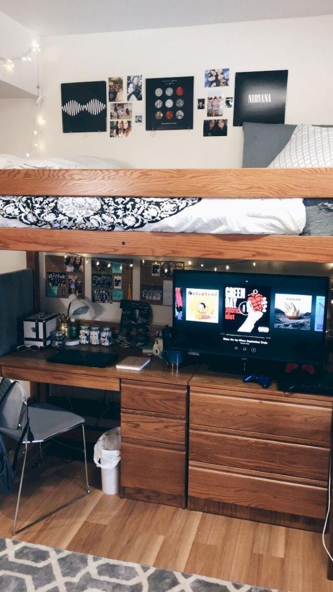 100+ Cute Loft Beds College Dorm Room De... 100+ Cute Loft Beds College  Dorm Room Design Ideas For Girl (99)