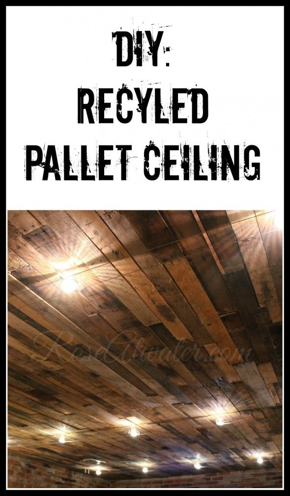 Diy phoenix home services inc diy recycled pallet ceiling solutioingenieria Choice Image