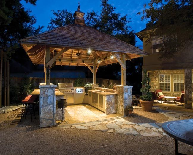 Summer is almost here is your outdoor grill area ready check this one out its built for entertaining this outdoor kitchen is equipped with all the