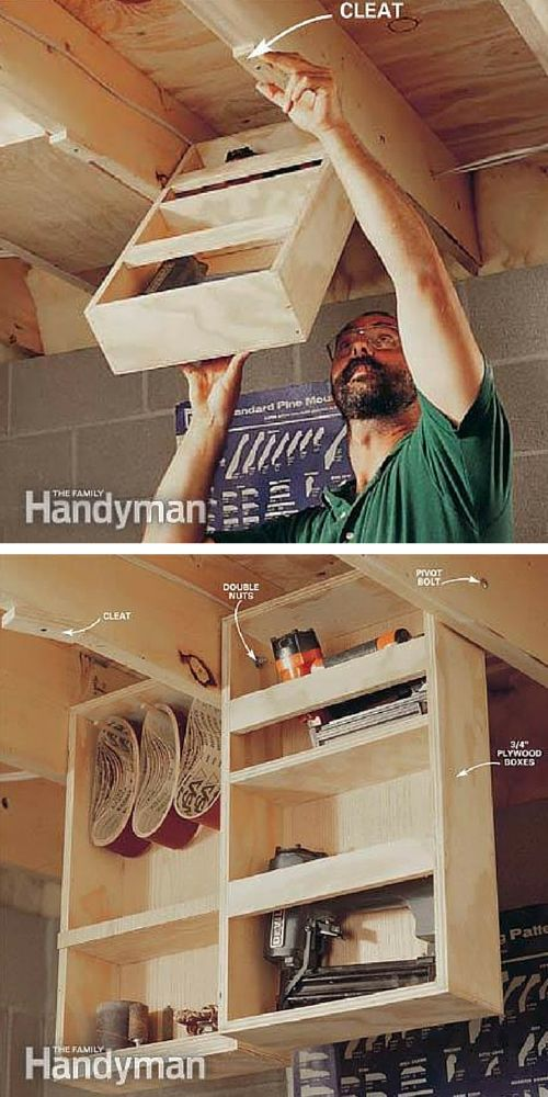 Weu0027ll Also Show You How To Build A Dedicated Shelf For Your Air Compressor,  Fold Up Worktables, Ceiling Drawers, Pegboard Shelving, Overhead Storage,  ...