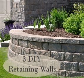 24 inspiring ideas for your retaining wall project you can go to a hardware store and they have all the groups of rocks in one stack so you dont have to put the colors or styles together solutioingenieria Gallery