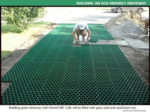 24 awesome diy driveway projects permaturf driveway is permeable and looks like grass you just plant grass between the honeycombs and supposedly it keeps the grass safe when you drive on solutioingenieria Images