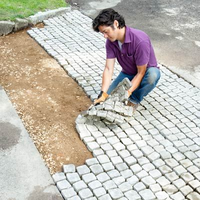 24 awesome diy driveway projects use handy paver mats to give your driveway some old world charm solutioingenieria Choice Image