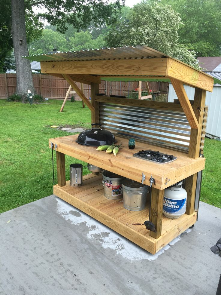 24 awesome diy grill projects weber kettle homemade carttable the bbq brethren forums click here to see how to diy solutioingenieria Images