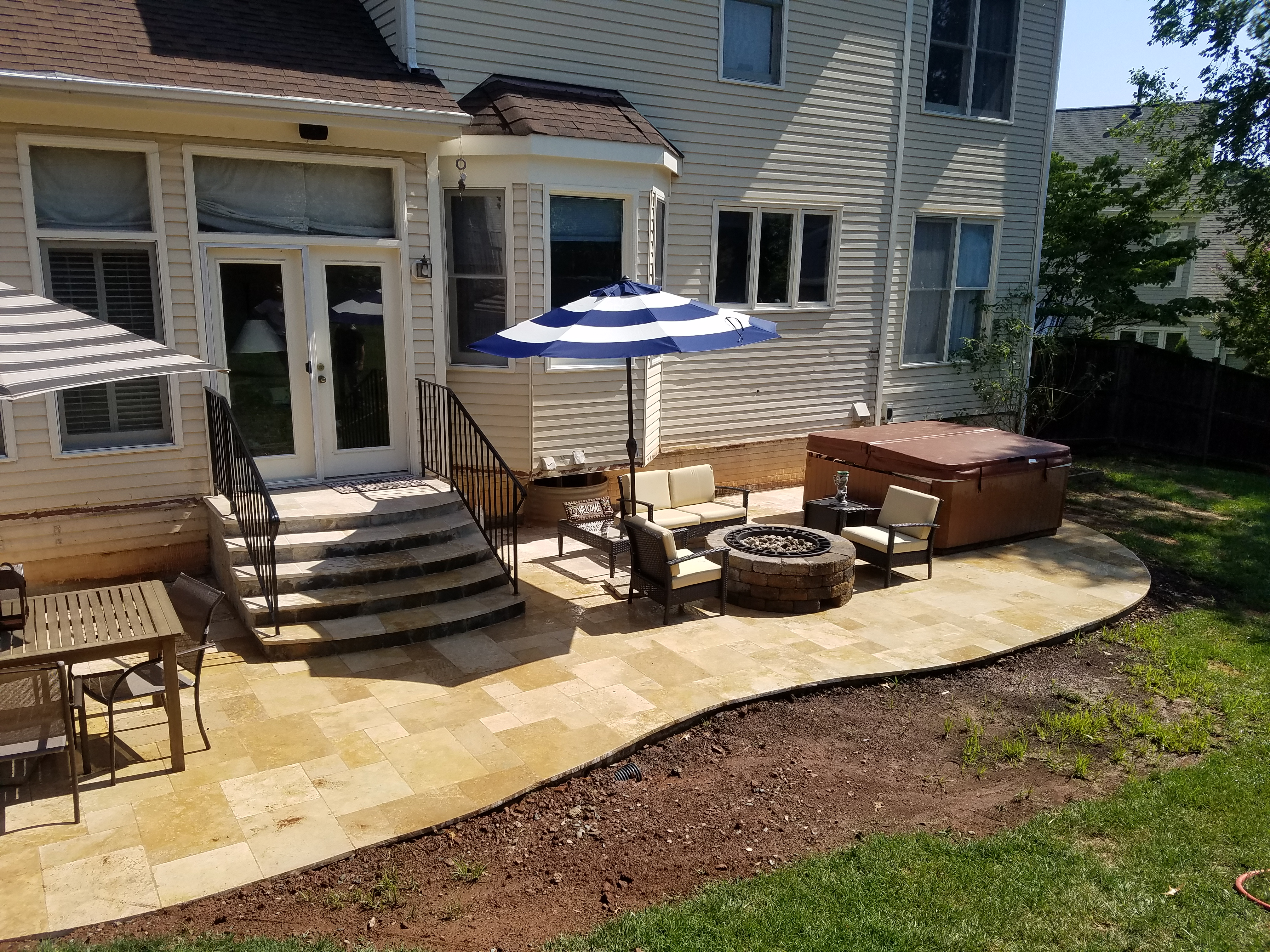 investment every concrete patio c the from patios no landscape space different of pictures your home paths and to an kitchen vs outdoor is landscaping a stamped pavers part r surrounding basement