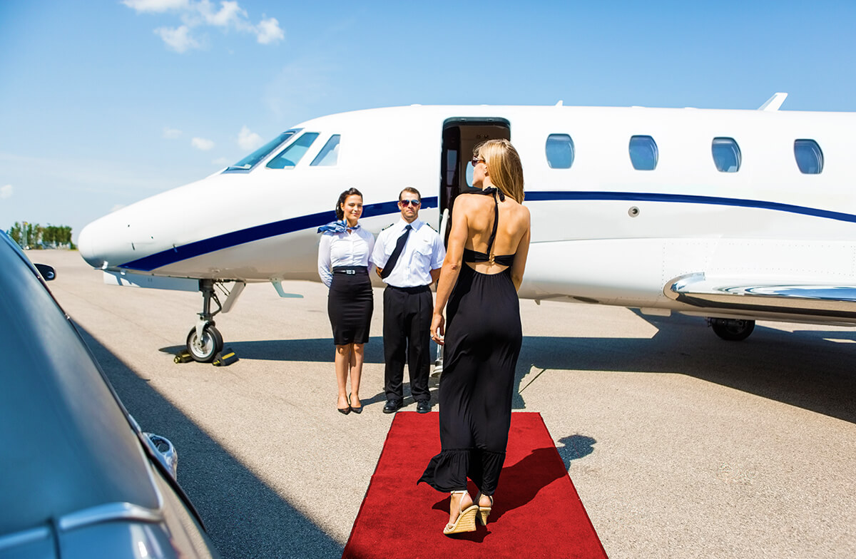 Airfield Private Jet Drop Off Chauffeur and Limousine Service