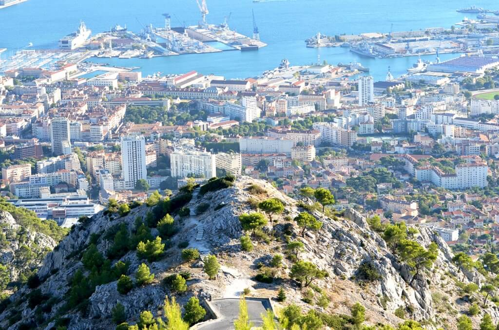 View from Mont Faron at Toulon