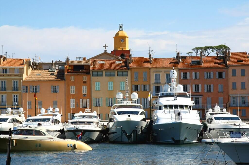 Port of Saint Tropez and Luxuryyachts