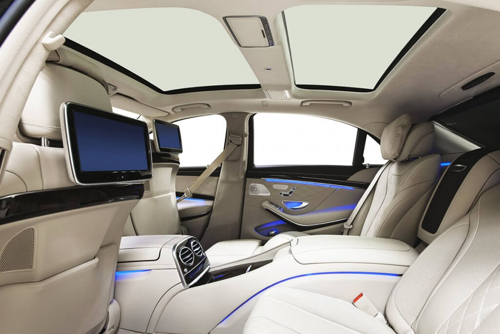 Luxury Limousine Interior for Chauffeur Service