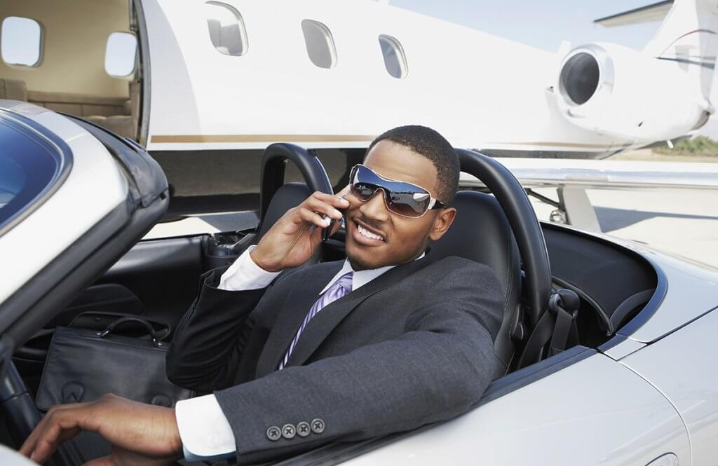 Sports and luxury car airfield private jet chauffeur and limousine service