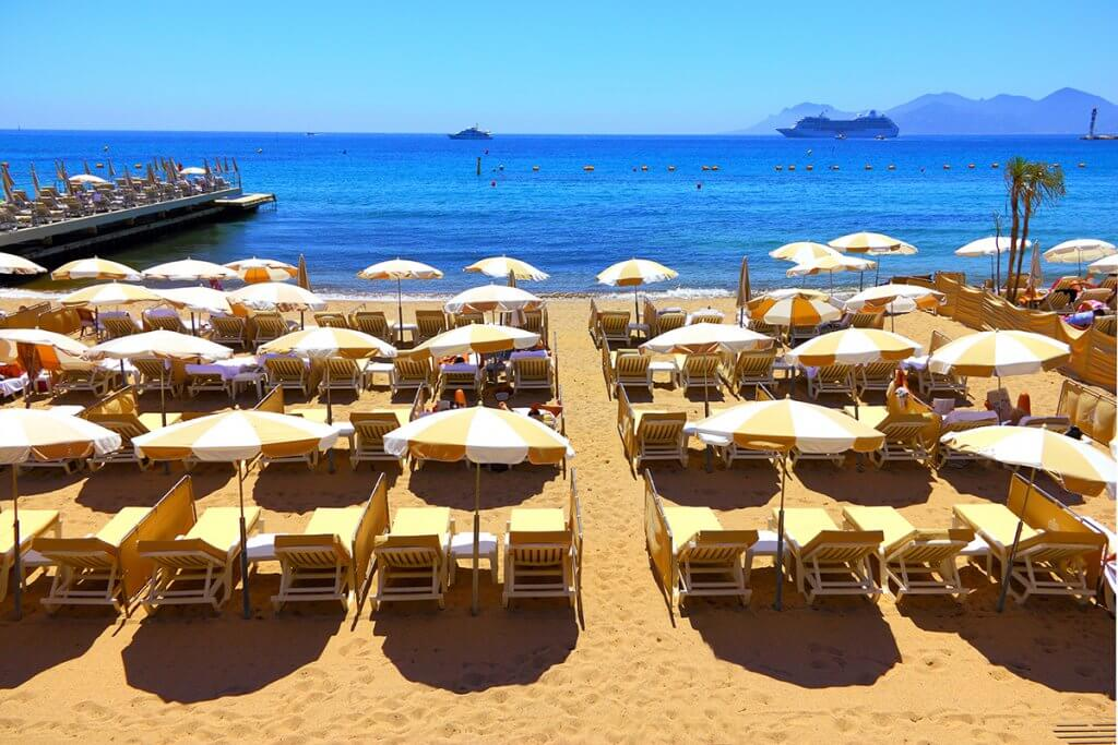 Private Beach Luxury Club Restaurant and Hotel Cannes Croisette