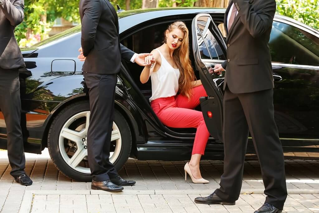 Private shopping and sightseeing tour with security bodyguards and limousine service