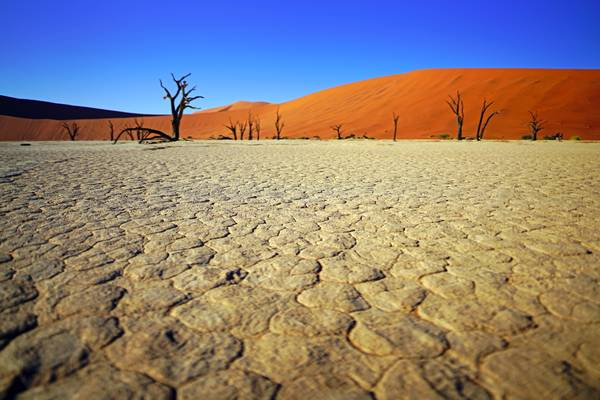 White salt pad of Deadvlei, Namibia