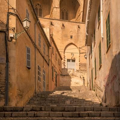 steep narrow road