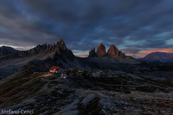First Light on Paterno, Tre Cime e Cristallino di Misurina