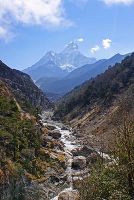 Imja Khola river & Ama Dablam