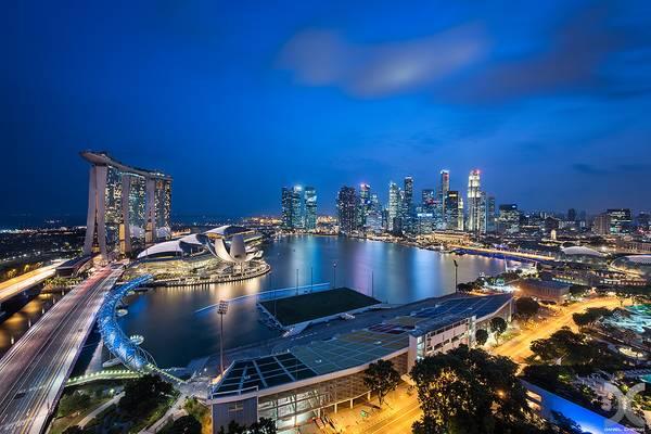 Marina Bay from Ritz Carlton Millenia