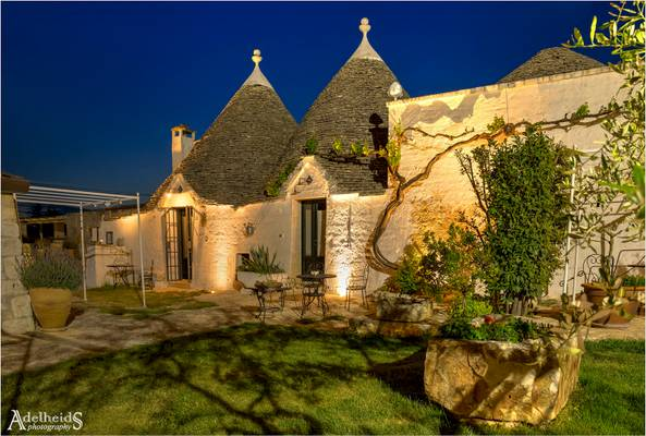 Trulli in blue, Alberobello, Italy