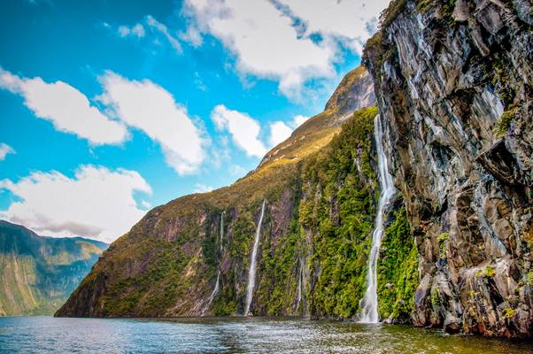 Water Falls at Milford Sound