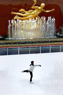 Rockefeller Center's Skating Rink - New York