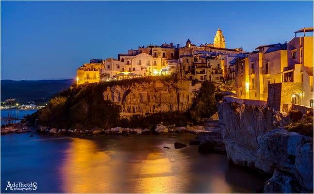 Another blue hour in Vieste, Italy