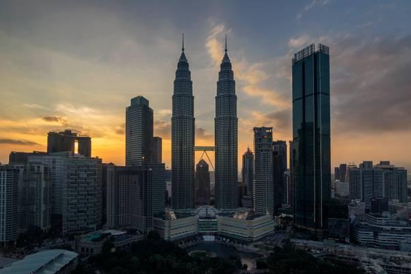 Atardecer en las Petronas (Kuala Lumpur)