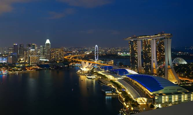 View from Level 33, Marina Bay Financial Centre