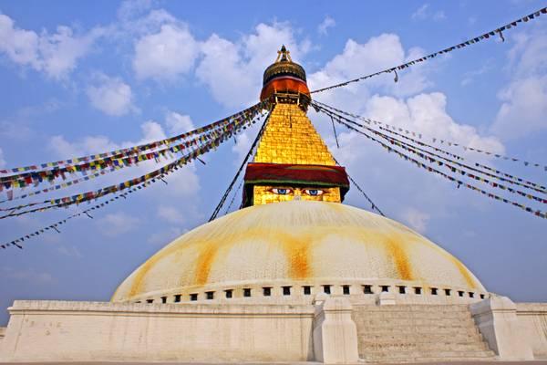 Nepal - Sunset at Bouddhanath Stupa