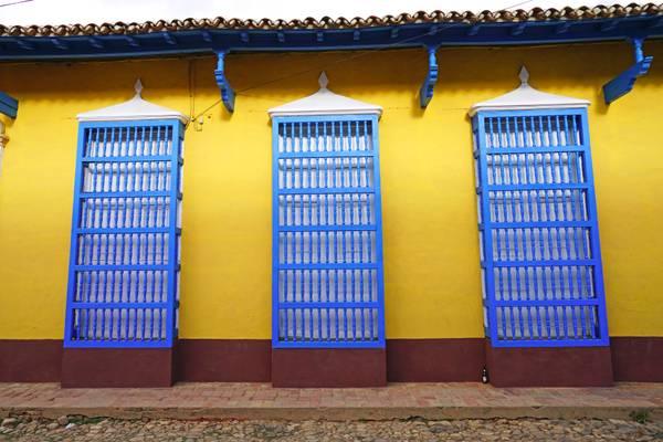 Amazing wooden windows of Trinidad