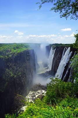 Zambezi River canyon below Victoria Falls