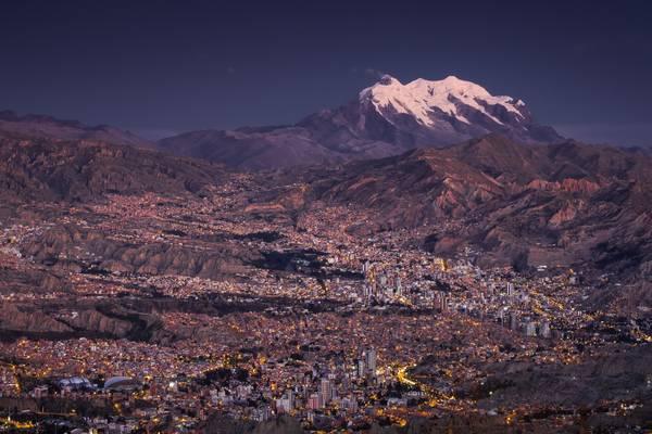 La Paz from Faro de Murillo