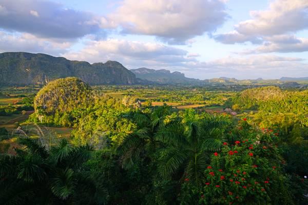 Exciting panorama of Viñales valley, Cuba