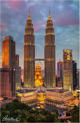 Petronas Towers Evening, Malaysia