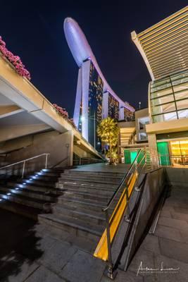 Looking Up Marina Bay Sands Hotel