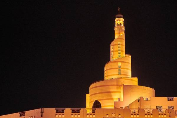 Qatar - Spiral minaret of Doha islamic center