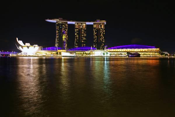Singapore night. Marina Bay Sands