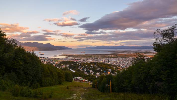 Ushuaia from Downhill Slope