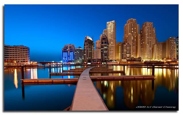 Jumeirah Beach Residence from Marina
