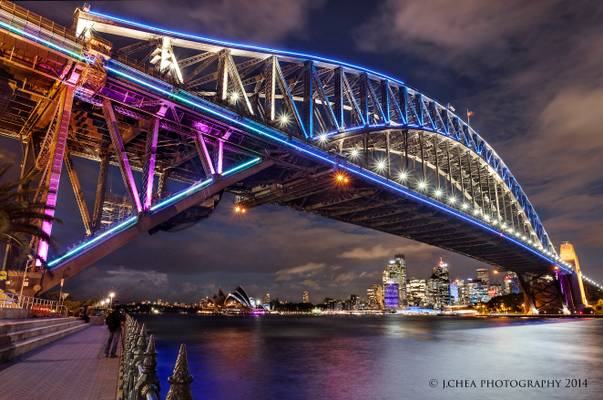 Vivid Harbour Bridge