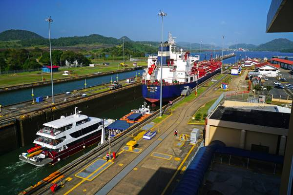 Traffic in Panama Canal