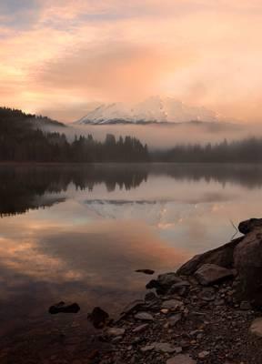 Mt Shasta from Lake Siskiyou