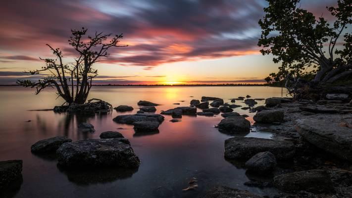 Sunset in Merritt Island - Florida, United States - Seascape photography