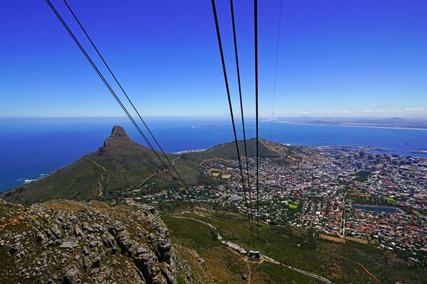 Aerial cableway to Table Mountain