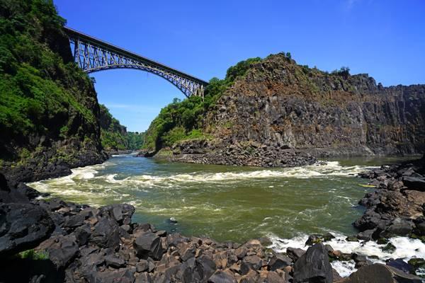 Victoria Falls Bridge from the Boiling Pot
