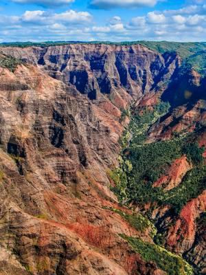 Waimea Canyon, Aerial