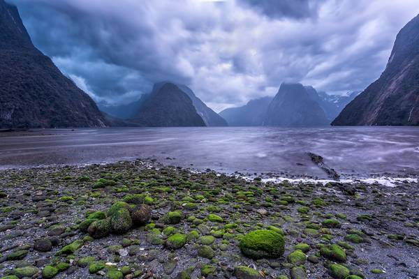 Cloudy Morning at Milford Sound