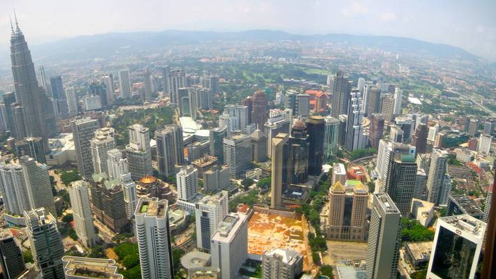 View from the KL tower, Kuala Lumpur, Malaysia