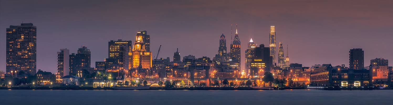 Philadelphia from the Camden boardwalk