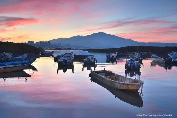 D5A_6812 小漁港的日出 fishing port sunrise scenery