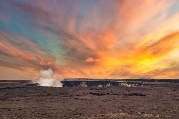 Mt Kilauea crater